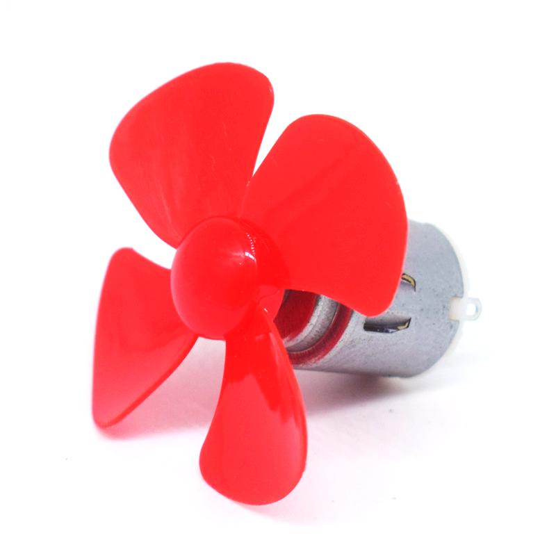 直流玩具电机马达3-6v高速140微型电机diy制作小马达送风扇叶包邮