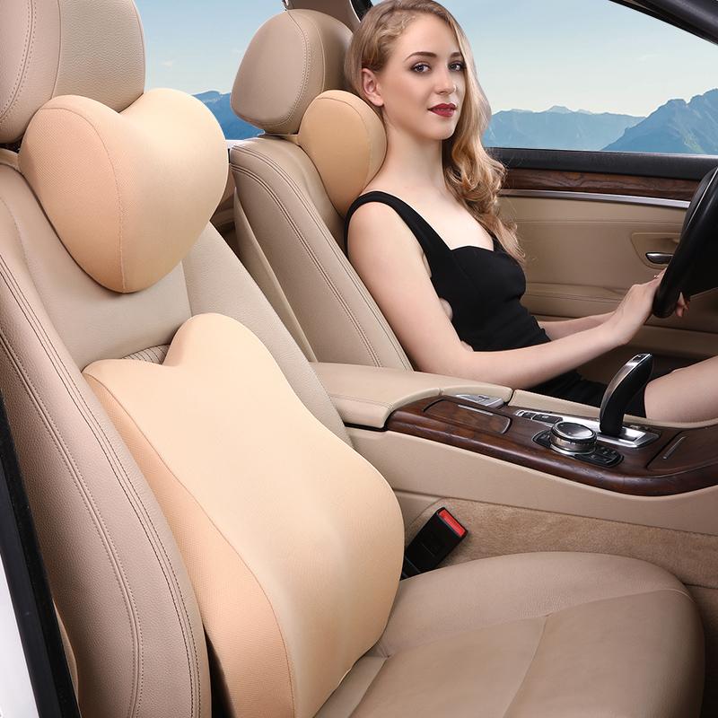 汽车头枕车用靠枕座椅枕头车载车内用品护颈枕记忆棉颈枕车枕腰靠