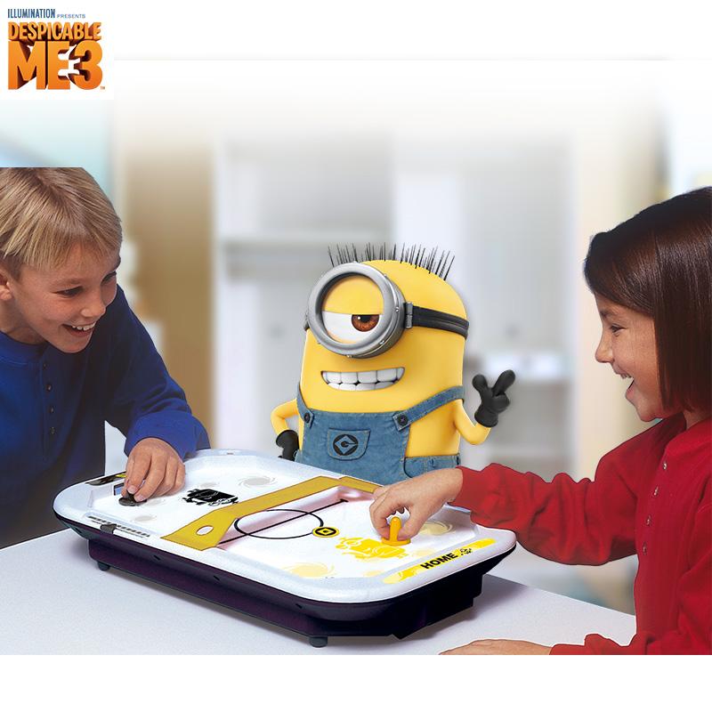 小黄人桌上冰球儿童益智玩具游戏桌游亲子互动桌面冰球机男孩礼物