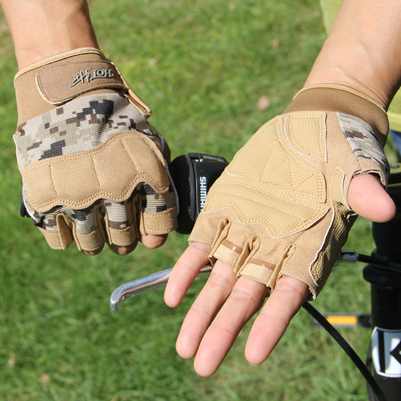 誉赫半指手套男士运动防滑骑行露指手套露指战术女士健身器械手套