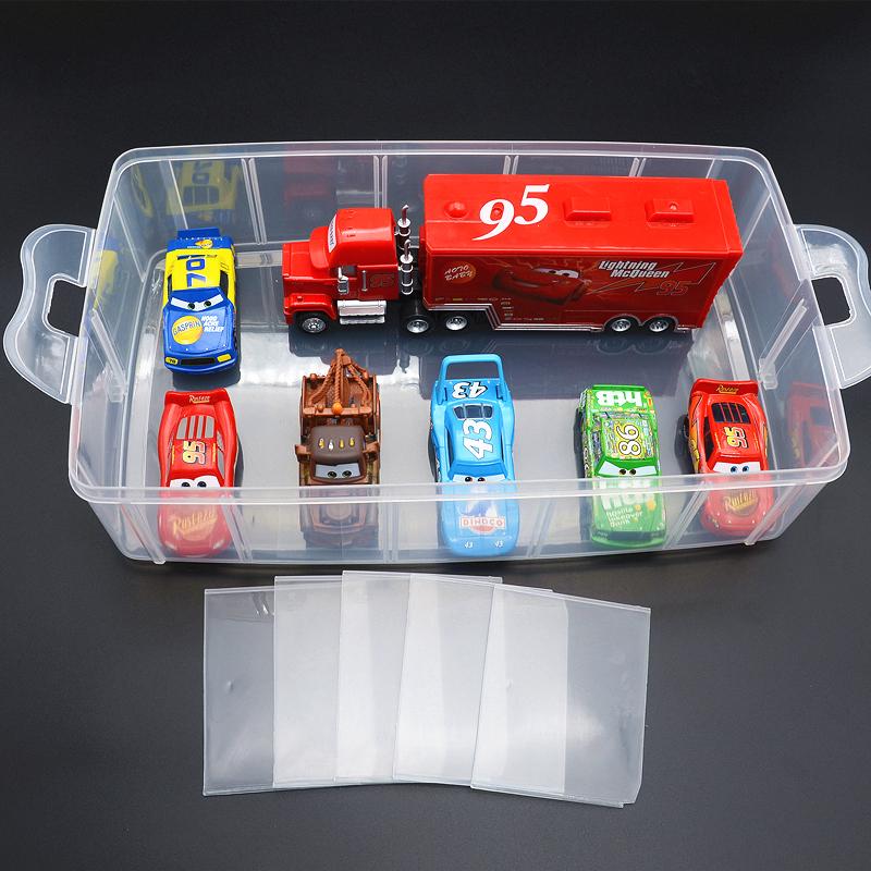 汽车总动员玩具车收纳盒 整理箱 迷你停车场合金赛车玩具收纳箱