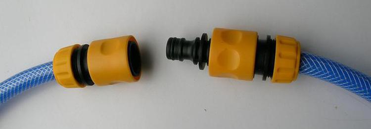 洗车水管接头双向对接奶嘴塑料二通接快接水管修补连接头修复延长