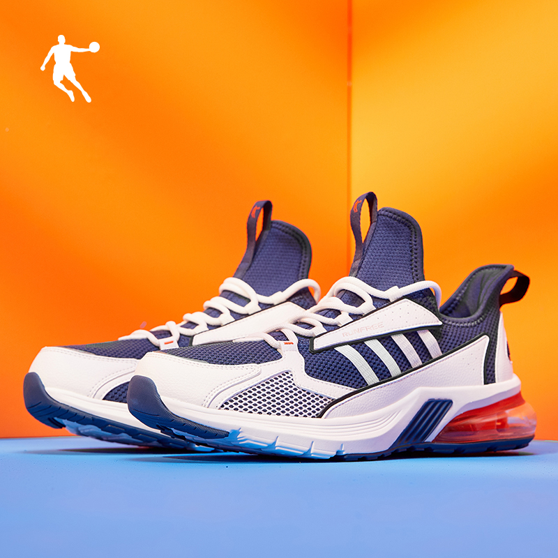 乔丹运动鞋男男鞋2019秋季新款男士休闲旅游鞋子网面透气跑步鞋