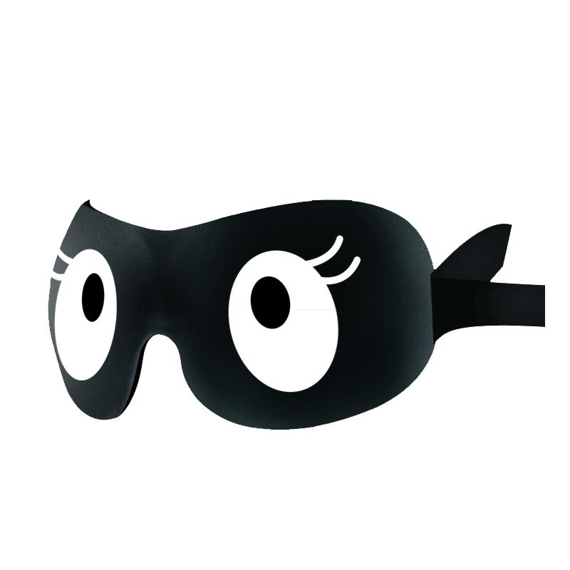 3D眼罩睡眠遮光透气护眼学生女男睡觉舒适搞怪可爱卡通送耳塞套装