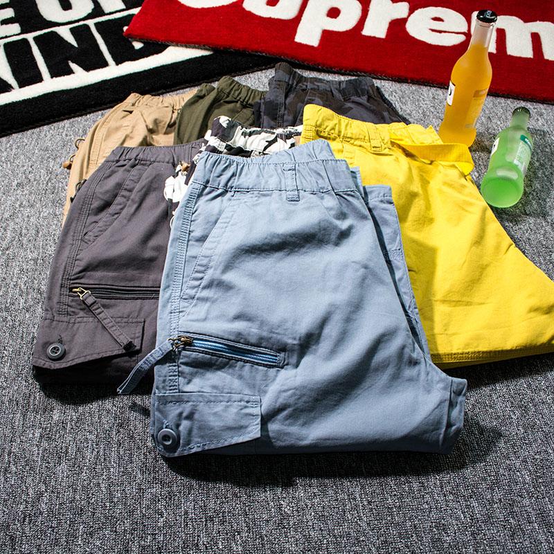 夏季短裤薄款七分裤男110-260斤多口袋7分工装加肥大码男士休闲裤