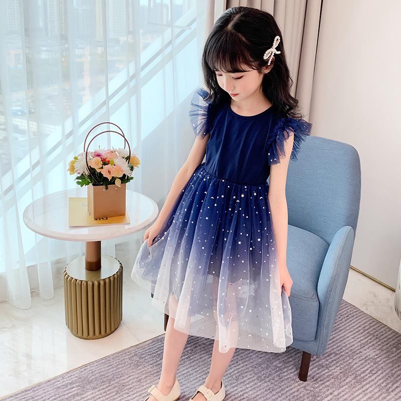 儿童公主裙女童夏装2021新款短袖连衣裙女孩蓬蓬纱裙子洋气礼服款主图