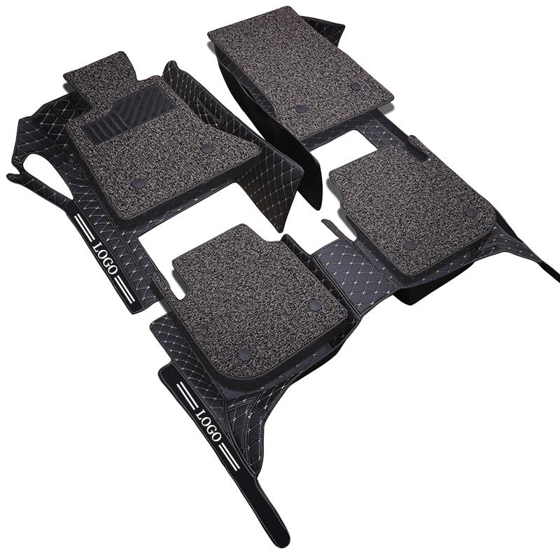 全包围丝圈汽车脚垫专用于新骐达颐轩逸逍客奇骏天籁骊威阳光蓝鸟