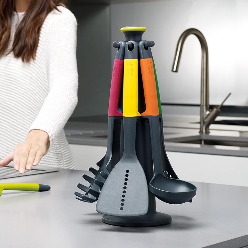joseph joseph旋轉木馬鍋鏟套裝帶底座鍋勺鏟子湯勺廚房烹飪工具