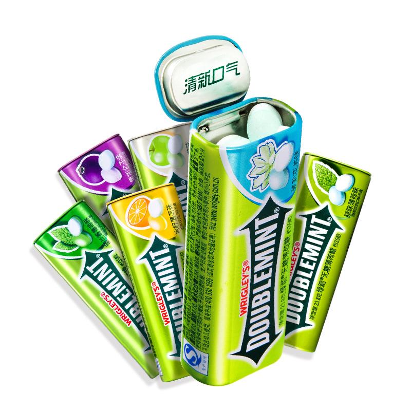 绿箭无糖薄荷糖35粒*15瓶装 铁盒口香糖清新口气清凉糖果零食批发
