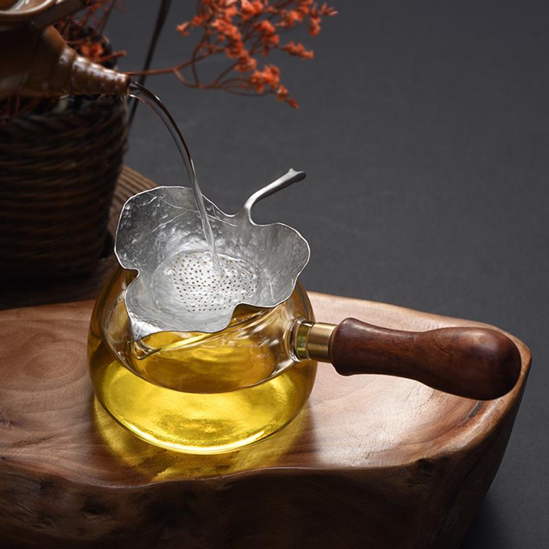 玻璃公道杯侧把功夫茶具分茶公杯茶漏套装配件倒茶器过滤创意网红