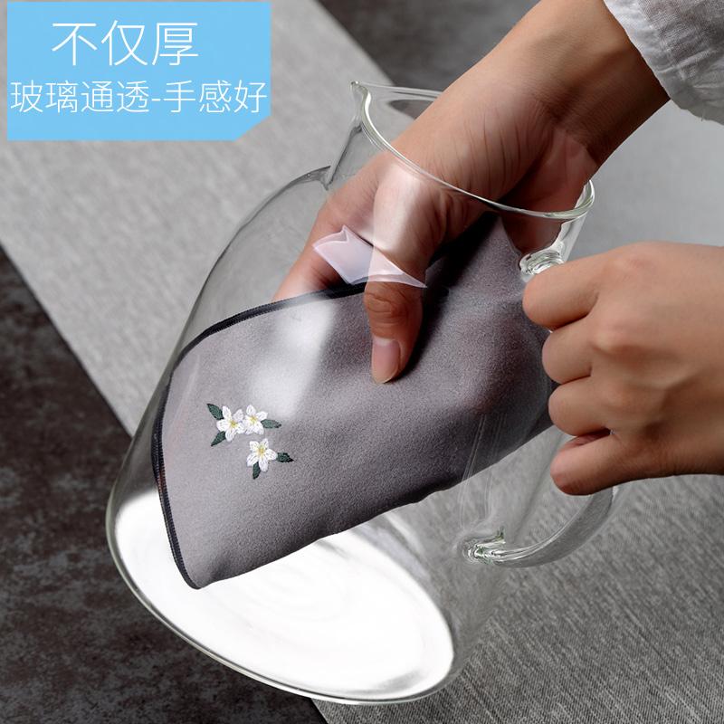 耐热高温304不锈钢果汁水壶大容量玻璃冷水壶家用茶花凉水杯防爆