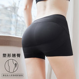 Mid-waist hip-hugging panties women's thin section shaping pants shape-fitting flat-angled safety hips shorts abdomen and hips beautiful hip artifact