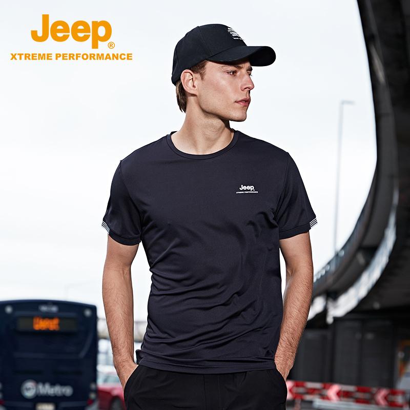 夏季新款 2020 恤男官方正品户外运动短袖透气 t 速干 吉普旗舰店 Jeep