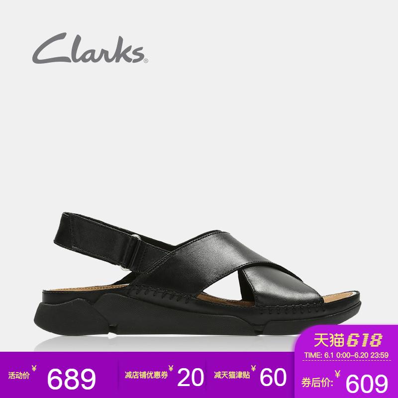 [淘寶網] clarks其樂女鞋休閒平跟露趾魔術貼涼鞋女夏Tri Alexia