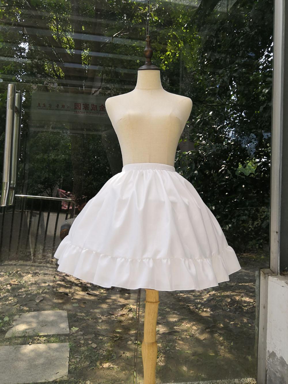 cosplay日常洛丽塔鱼骨裙撑lolita可调节暴力卡门衬裙棉绸蓬蓬裙【图3】