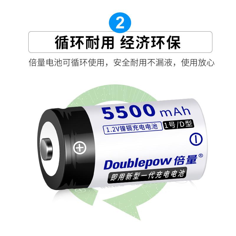 1号充电电池套装D型大号可充电热水燃气煤气灶专用一号锂电充电器