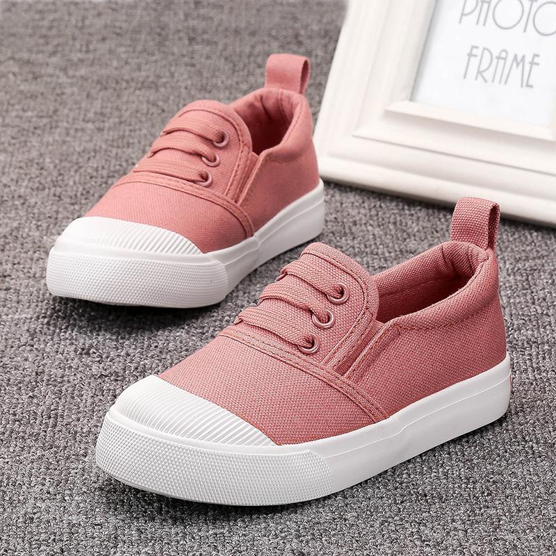 儿童帆布鞋男童板鞋布鞋女童鞋子小白鞋2019年新款秋款秋季韩版潮