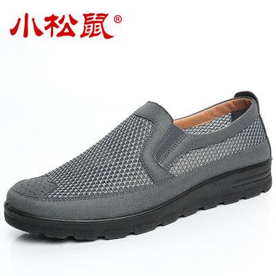 夏季老人鞋男中老年宽松透气网眼父亲老北京布鞋男网鞋爸爸大码鞋 - 图1