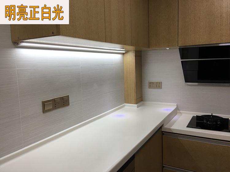 安碧LED橱柜灯无需变压器直连220V厨房吊柜底灯触摸、手扫可选