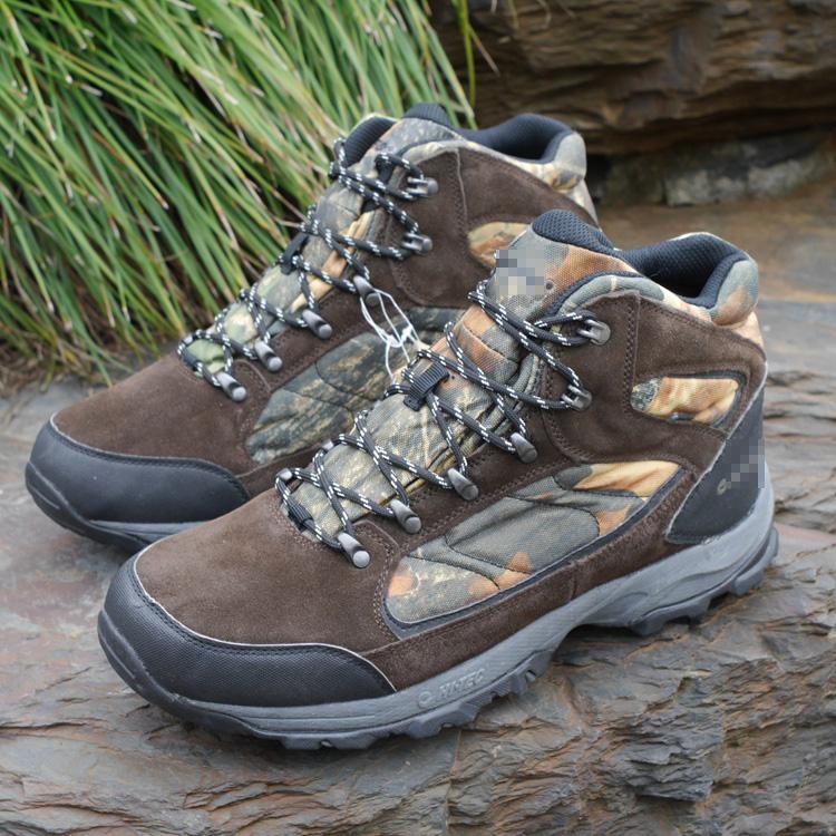英國防水登山鞋 高幫反毛皮男鞋 越野跑鞋徒步鞋高強度登山戶外鞋