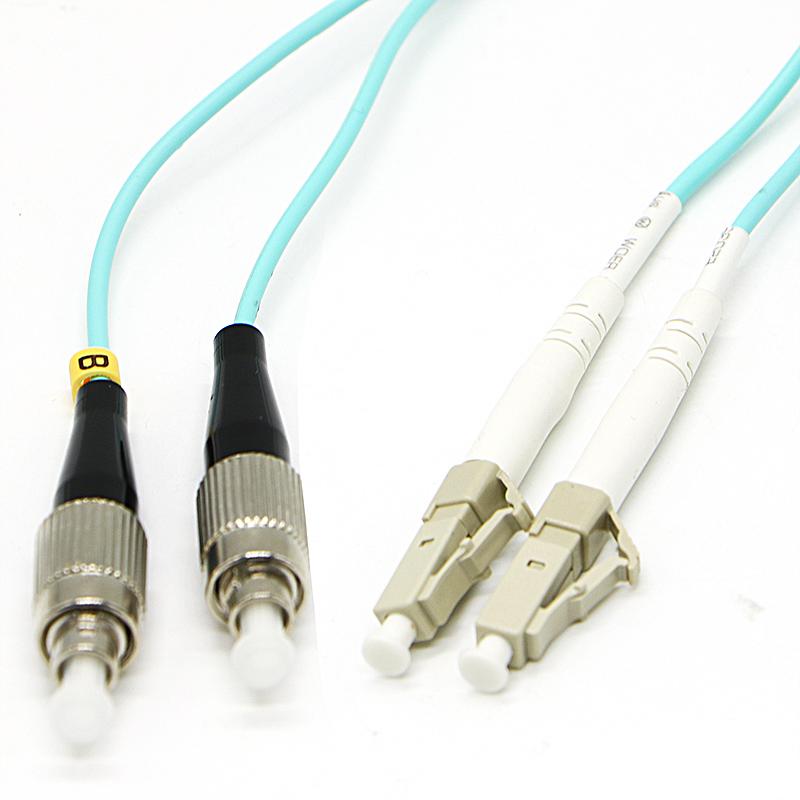 华立信15米FC-LC万兆多模双芯光纤跳线OM3尾纤电信级光纤线可定制