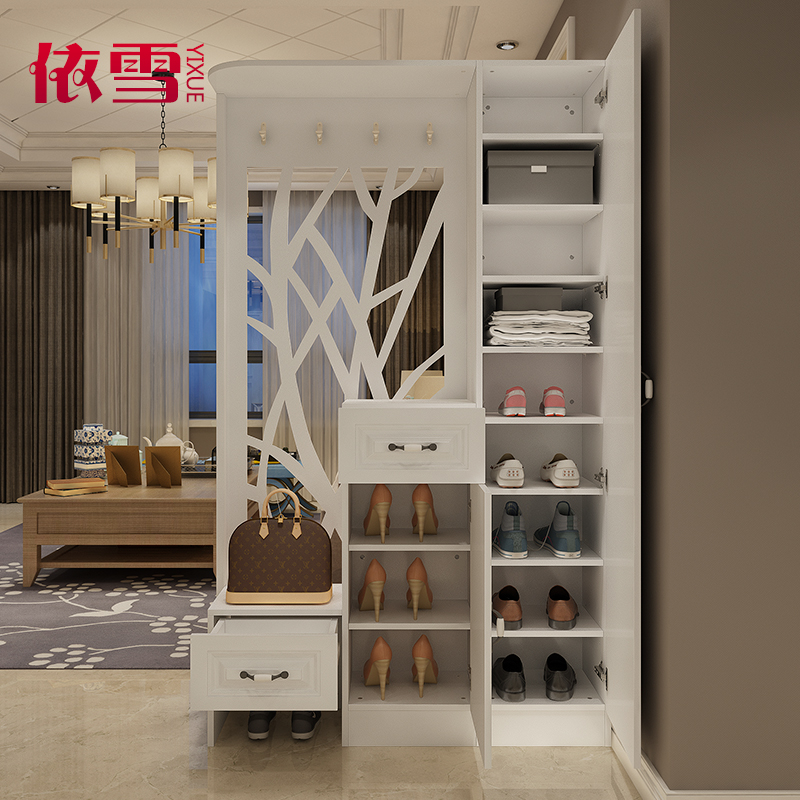 欧式客厅玄关柜进门镂空隔断柜简约现代多功能鞋柜门厅柜餐厅屏风