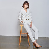 White suit jacket suit small suit suit female 2020 British style fashion wear suit Korean temperament
