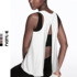Sports vest blouse women's loose fitness vest women's outer wear quick-drying long sports T-shirt sleeveless fitness clothing thin