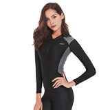 South Korean female split wetsuit surf clothing long-sleeved zipper pants quick-drying sunscreen clothing diving suit swimsuit jellyfish