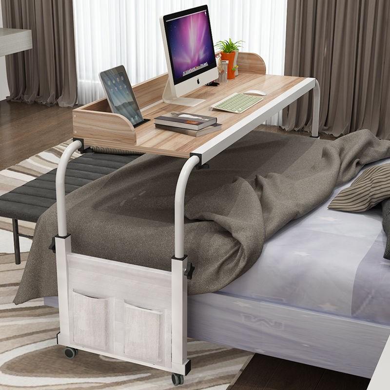 降台式机家用卧室懒人床上书桌