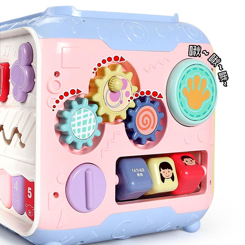 婴儿玩具手拍鼓3六面体益智7拍拍鼓宝宝早教0-1岁男孩女孩12个月6