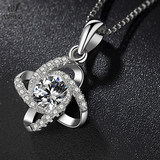 PT950 Platinum Necklace Female 18k White Gold Necklace Diamond Pendant Women's White Gold Necklace Valentine's Day Gift