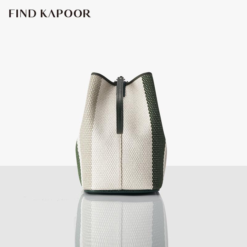 帆布绿 FKR 梵德卡普尔时尚女包单肩斜挎包女士水桶包 KAPOOR FIND