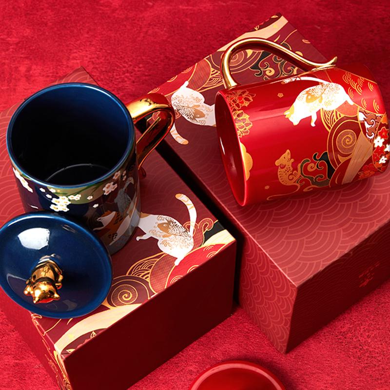 共禾京品周大福联名款马克杯,送朋友新年礼物