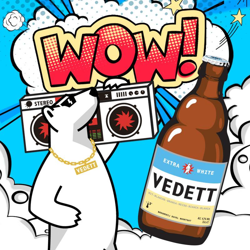 比利时原装进口:330mlx6瓶 VEDETT白熊 精酿白啤酒