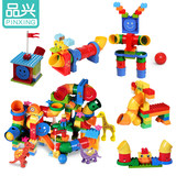 Pinxing pipe game building blocks lego educational assembly 3-6 years old children early education puzzle teaching aids toys 9076