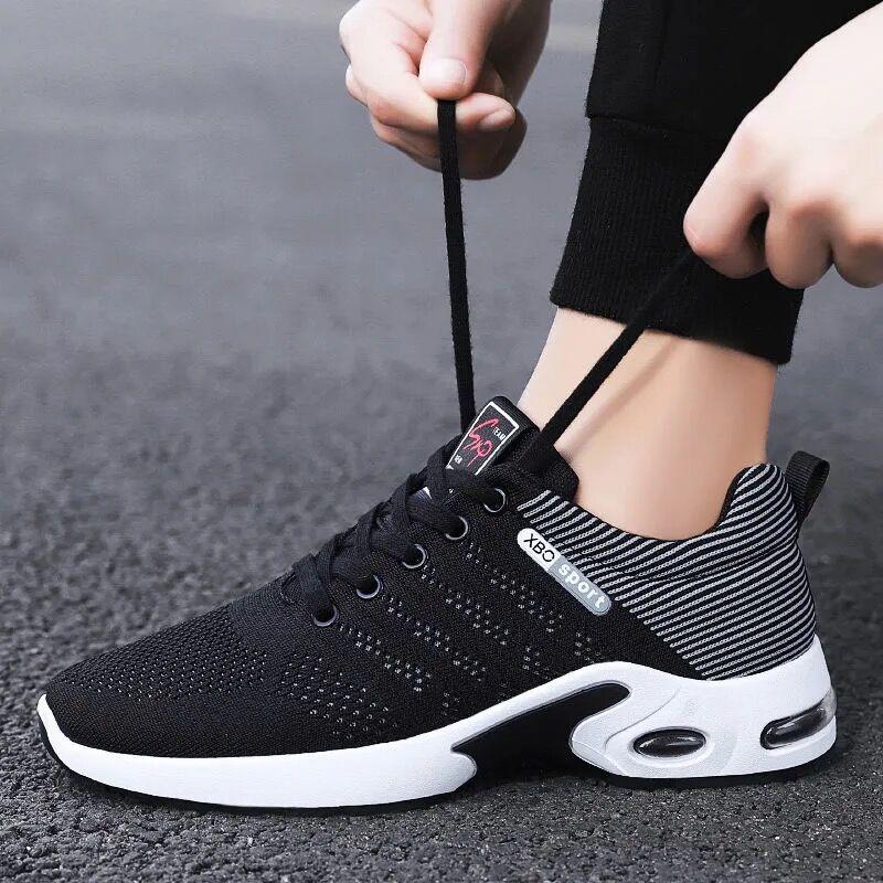 夏季运动鞋轻便飞织男鞋透气耐磨跑步鞋