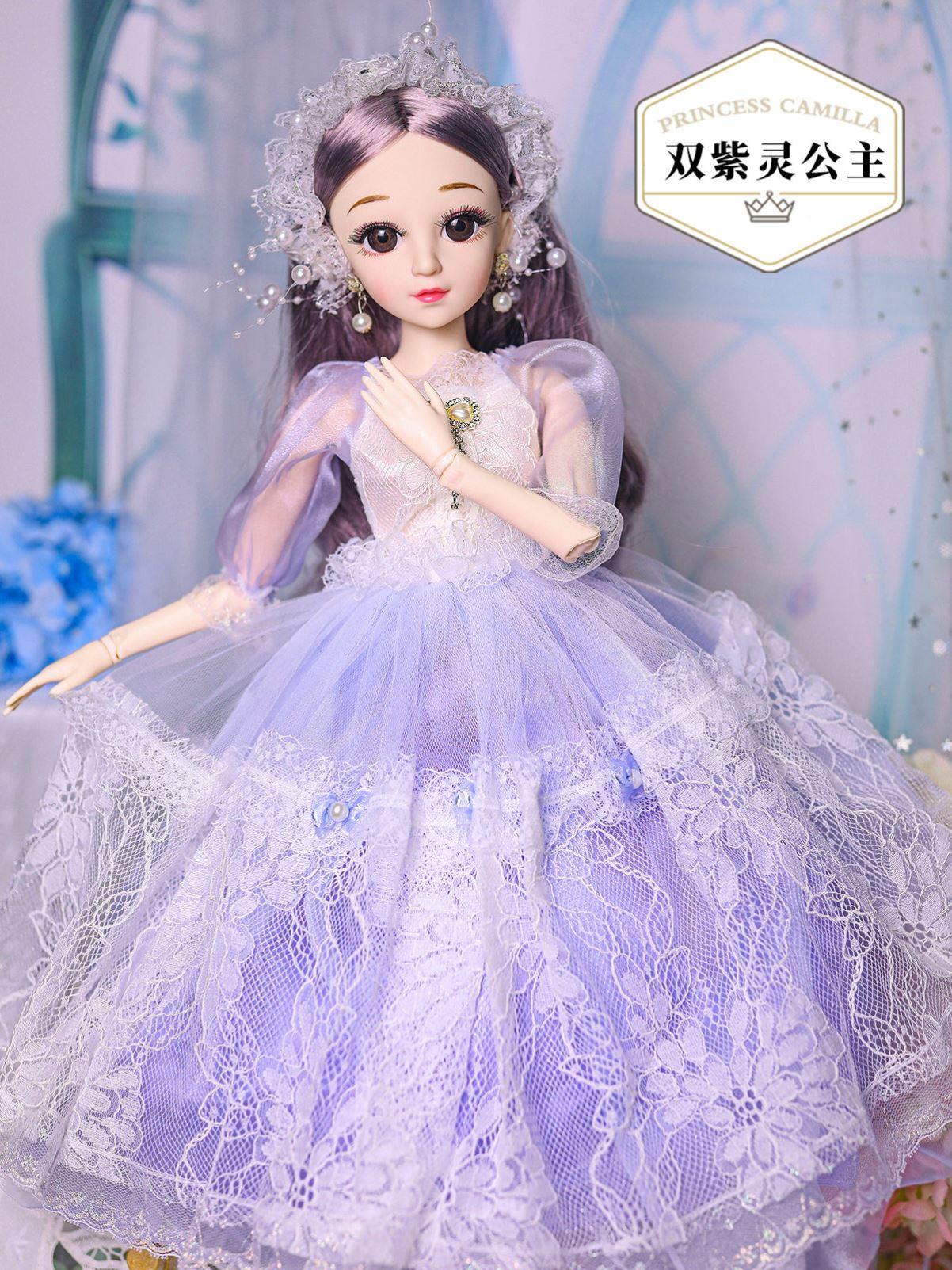 裙子车载衣服彩妆盒嘿喽芭比娃娃套装2021新款女孩公主超大号制作