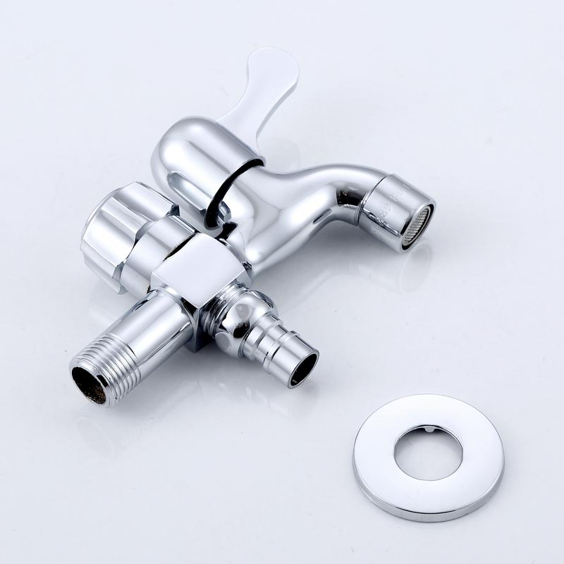 分双头两用洗衣机水龙头一分二 4 家用多功能专用三通 一进二出水嘴