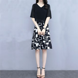 Sen female line dress 2020 new fashion Western style chiffon skirt large size women's loose long section of female dress