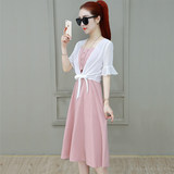 Sweet dress female 2020 new Korean Women Dress Western style two-piece shawl small children fragrant summer wind
