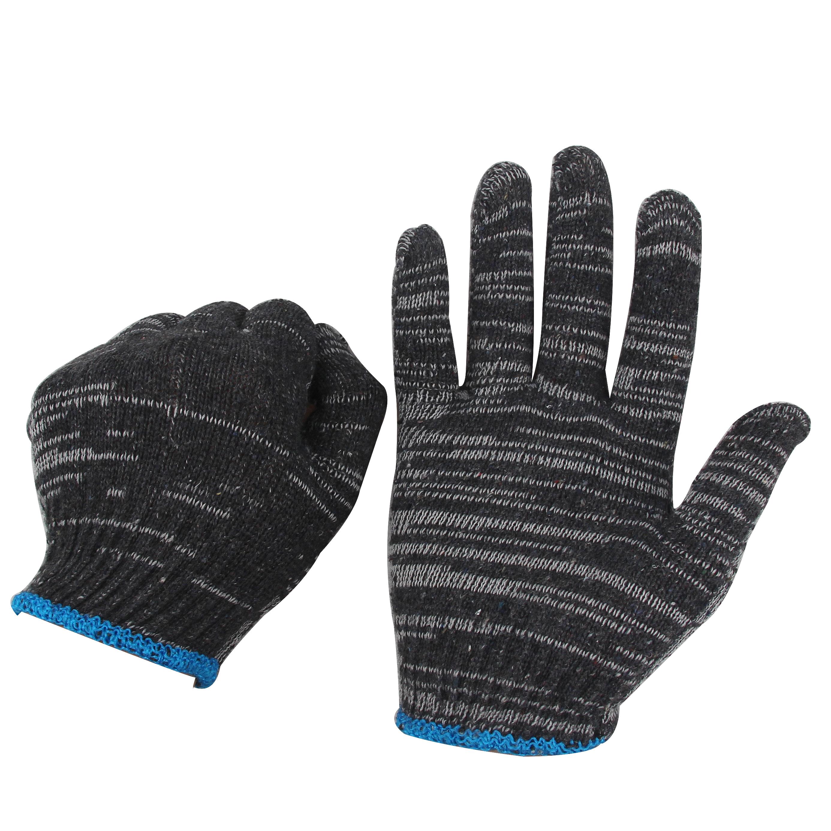 劳保灰黑色耐脏手套棉线尼龙混纺薄款修车干活便宜一次姓防护手套