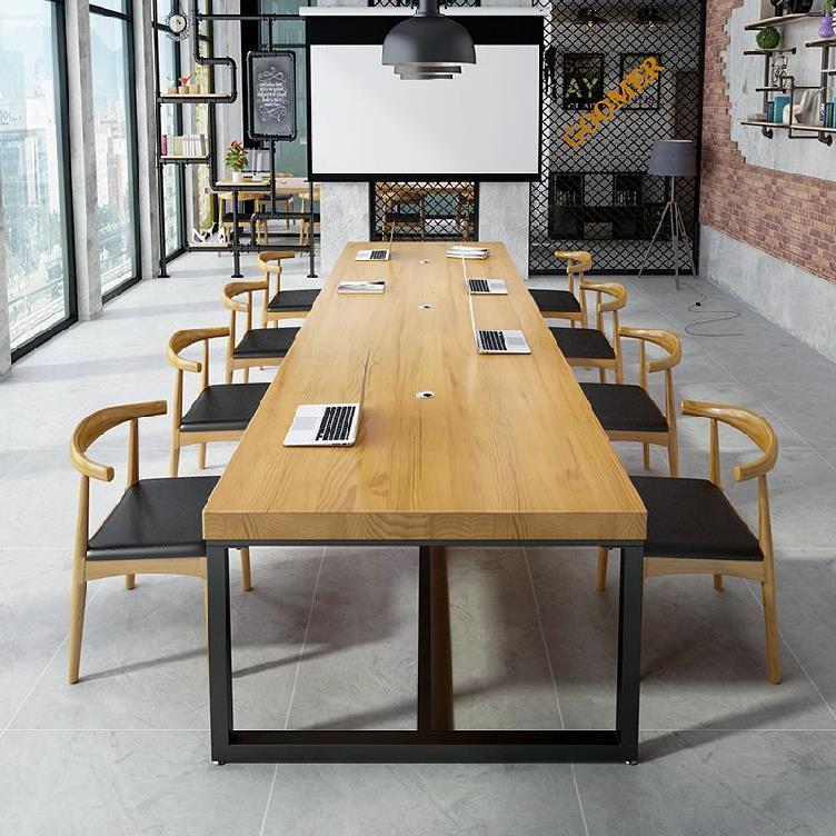 人 4 接待桌木質話務員課桌椅長方形開會培訓辦公室小會議桌電腦桌