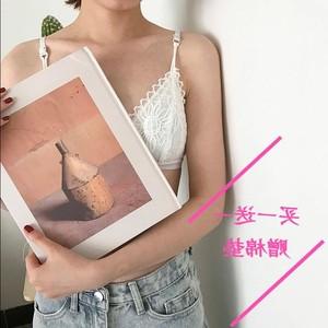 少女蕾丝韩版初中生薄女孩内衣三角杯抹胸吊带美背文胸女学生内衣
