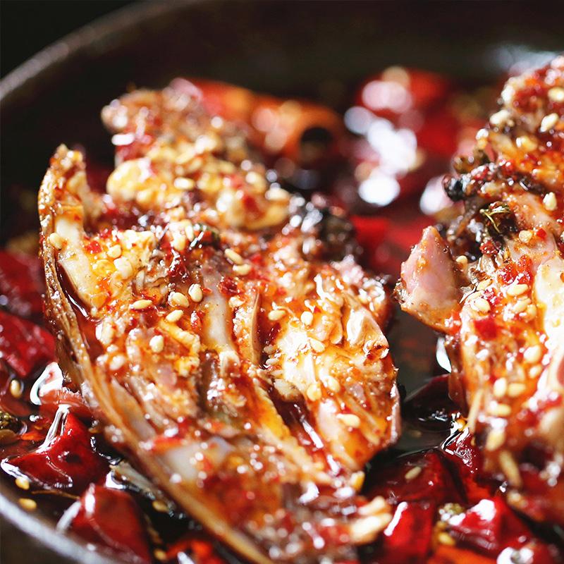 熟食香辣新鲜现做 四川特产小吃零食美食 麻辣 三袋包邮火焰兔头