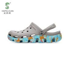 Shark pelican hole shoes female couple tide wild non-slip thick bottom Dieter sandals beach shoes 2019 new sandals and slippers