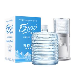 5100软桶水 西藏冰川矿泉水12L*1桶 家庭装桶装水 弱碱性低氘水