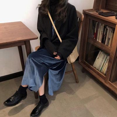智熏裙法式高腰v领桔梗连衣裙性价比高评测怎么样