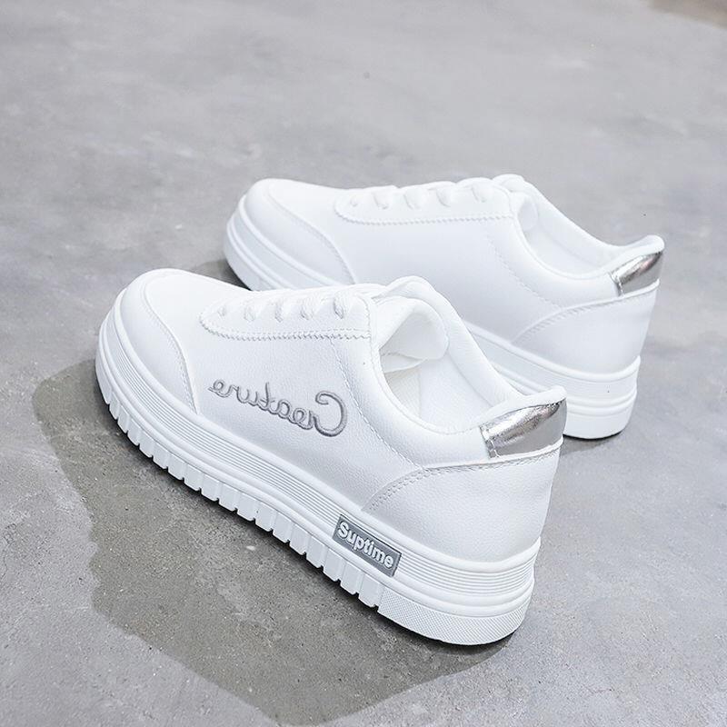 秋款女增高厚底板鞋小白鞋休闲韩版限时秒杀