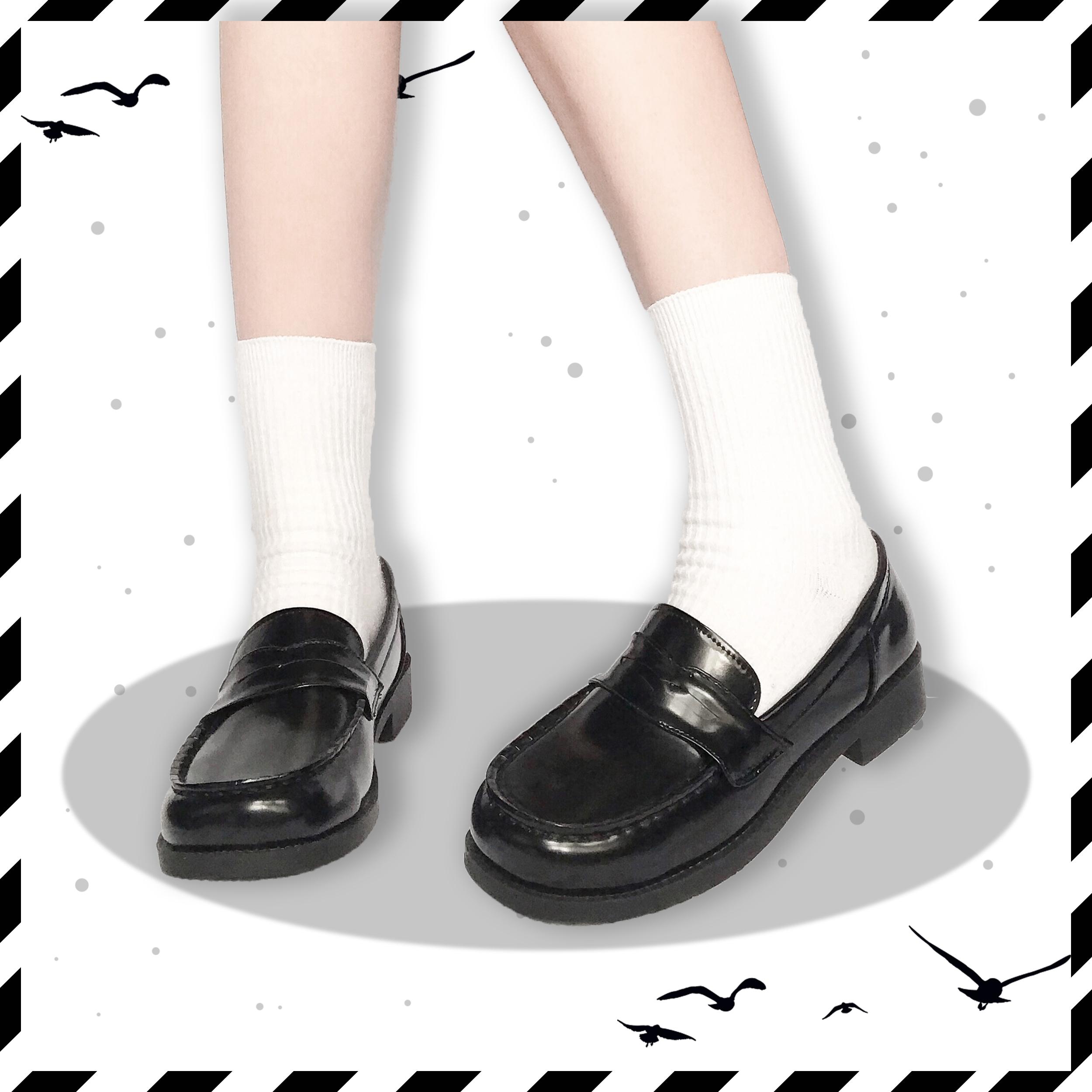 欧川高正统校供版型方圆头加软防掉跟制服鞋单鞋浅口中低跟 现货